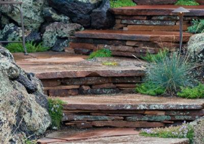 Flagstone & Boulder Steps