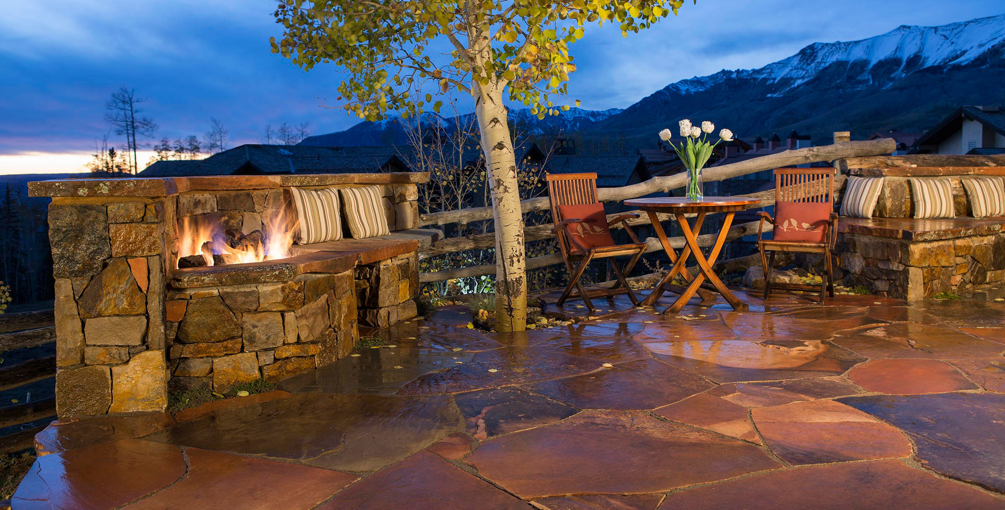 landscape design with Flagstone Patio Telluride